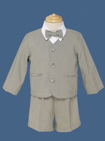 Close-Out Boy's Rayon Eton Suit in Sage
