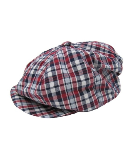 Patriotic Plaid Gatsby Golf Hat - Infants