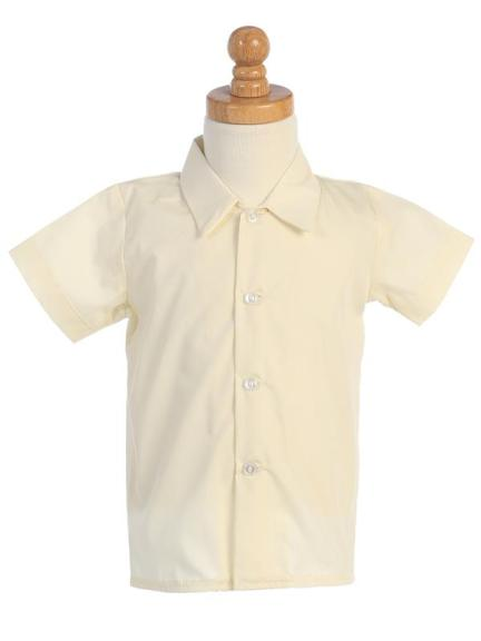 Boys Short Sleeve Dress Shirt - Ivory