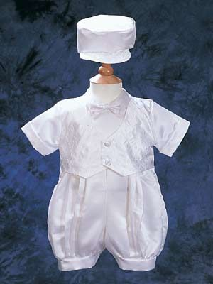 Christening Romper in Satin Close-Out