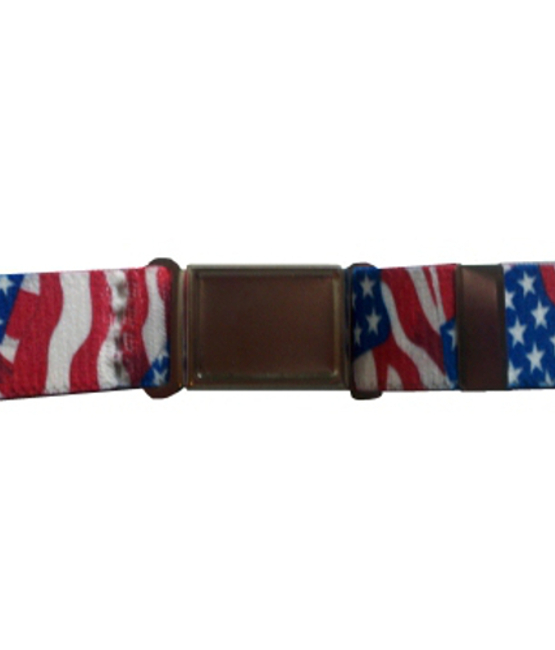 Magnetic Buckle Stretch Elastic Belts - American Flag
