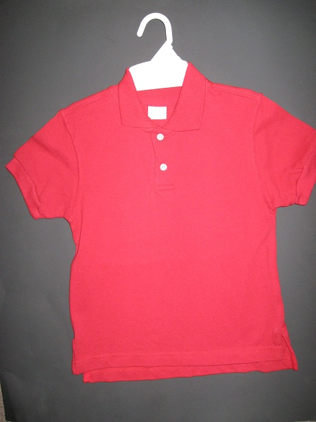 Red Long Sleeve  Dress Shirt