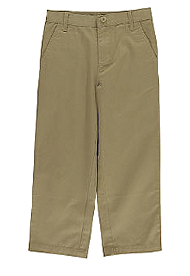 Toddler Boys Khaki Cotton Twill Pants