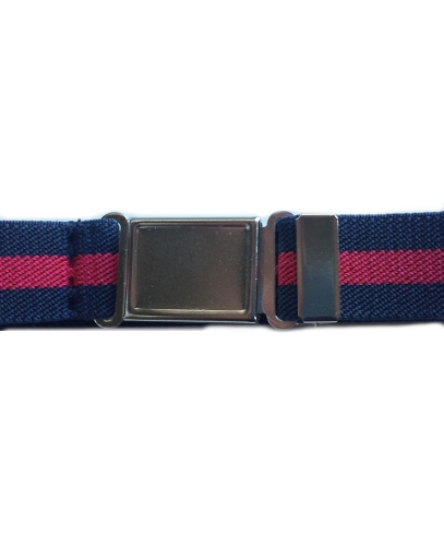 Magnetic Buckle Elastic Belts - Navy/Red Stripe