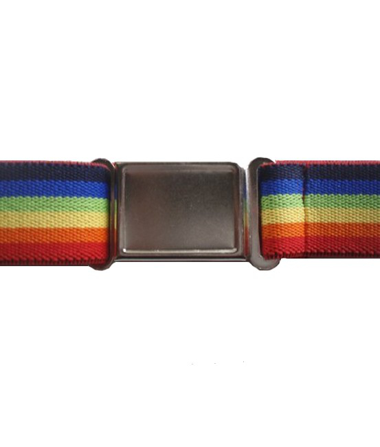 Magnetic Buckle Elastic Belts - Rainbow Stripe
