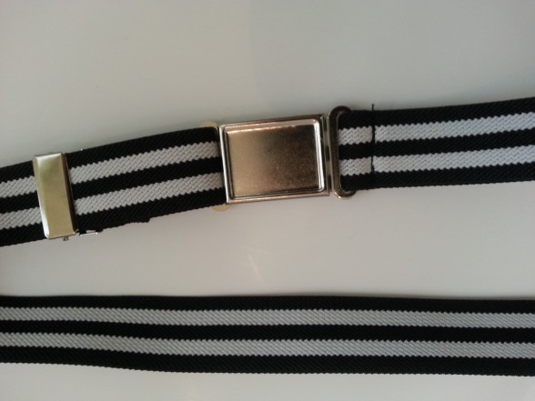 Boys Black Stripe Magnetic Buckle Belts Exclusive