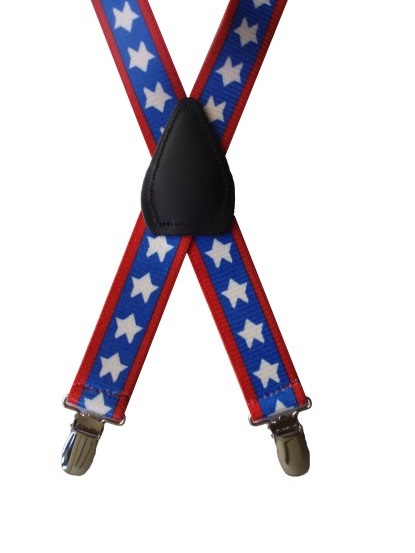 Kids Patterned Suspenders - Patriotic Stars