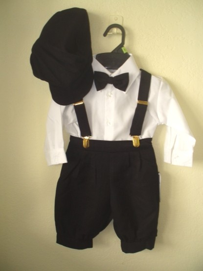 5 Pc Black Tone on Tone Toddler Knickerbockers