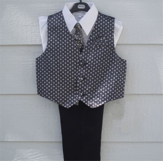Dapperlads 4 Piece Toddler Black Vest And Pants Set