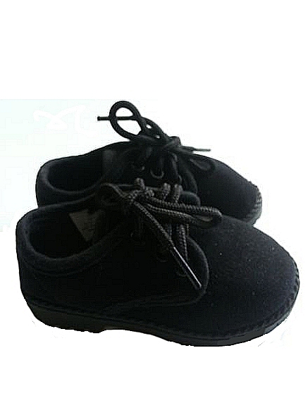 Black Velvet Boys Dress Shoes