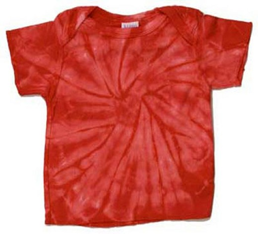 Infant Tie Dye Tee Shirt - Red