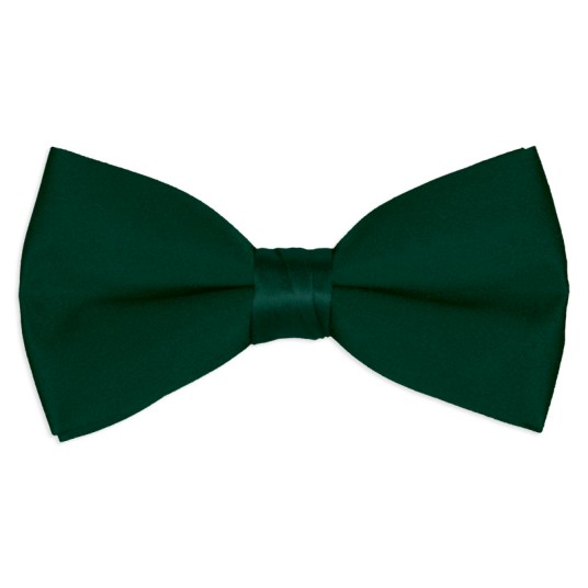 hunter-green satin bow tie
