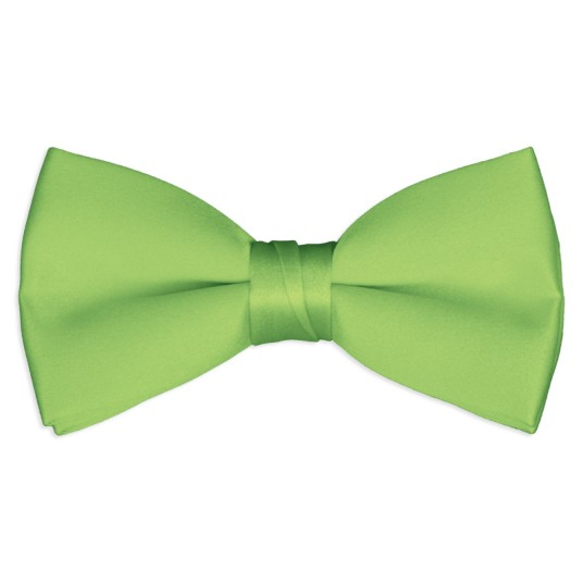 lime-green satin bow tie