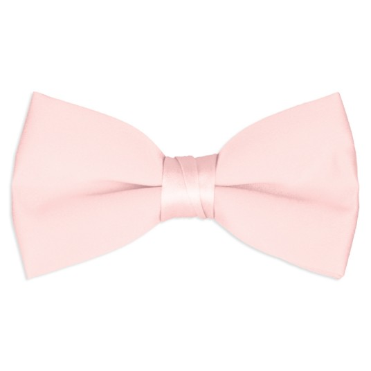 light-pink satin bow tie