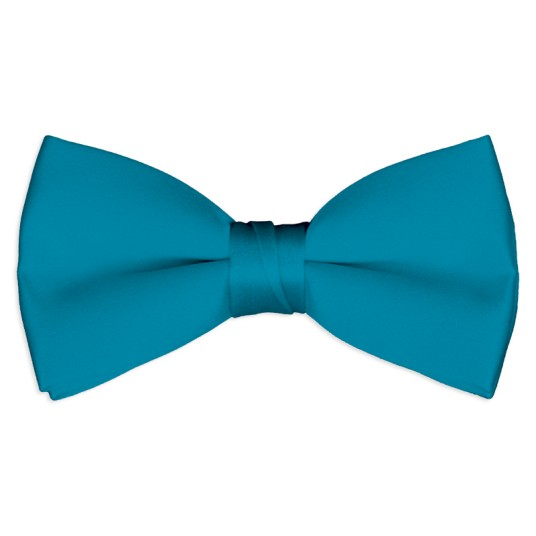 caribbean blue satin bow tie